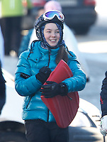 Princess Alexandra of Hanover enjoys figure skating & sledging in the snow - Austria