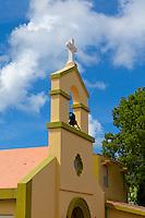 Vieques Island, Puerto Rico<br /> Todos los Santos Episcopal church bell tower in the village of Isabel Segunda