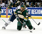 Kevin Limbert (Yale - 10), Viktor Stalberg (Vermont - 18) - The University of Vermont Catamounts defeated the Yale University Bulldogs 4-1 in their NCAA East Regional Semi-Final match on Friday, March 27, 2009, at the Bridgeport Arena at Harbor Yard in Bridgeport, Connecticut.