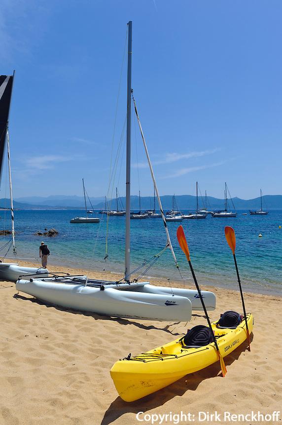 Strand von Porticcio, Korsika, Frankreich