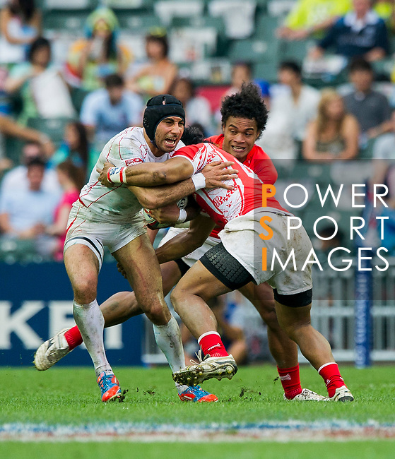 Tonga play Tunisia in a Qualifier Quarter Final on Day 3 of the Cathay Pacific / HSBC Hong Kong Sevens 2013 on 24 March 2013 at Hong Kong Stadium, Hong Kong. Photo by Xaume Olleros / The Power of Sport Images