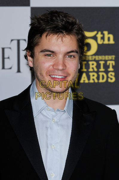 EMILE HIRSCH.The 25th Annual Film Independent Spirit Awards at the LA Live Event Deck in Los Angeles, California, USA..March 5th, 2010  .headshot portrait black blue stubble facial hair .CAP/ROT.©Lee Roth/Capital Pictures