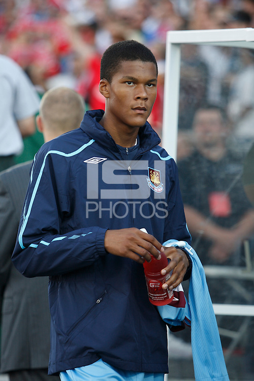 West Ham United defender Jordan Spence (45). The MLS All-Stars defeated West Ham United 3-2 during the MLS All-Star Game at BMO Field in Toronto, Ontario, Canada, on July 24, 2008.