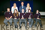 Coláiste Gleann Lí students who received Most Diligent Student Awards at the school's awards on Friday afternoon were Paul McCarthy, Sophie Foran, Aodán and Clodagh Quirke, Aisling Quirke  with Principal Richard Lawlor, Ms Leen and Ms O'Doherty,