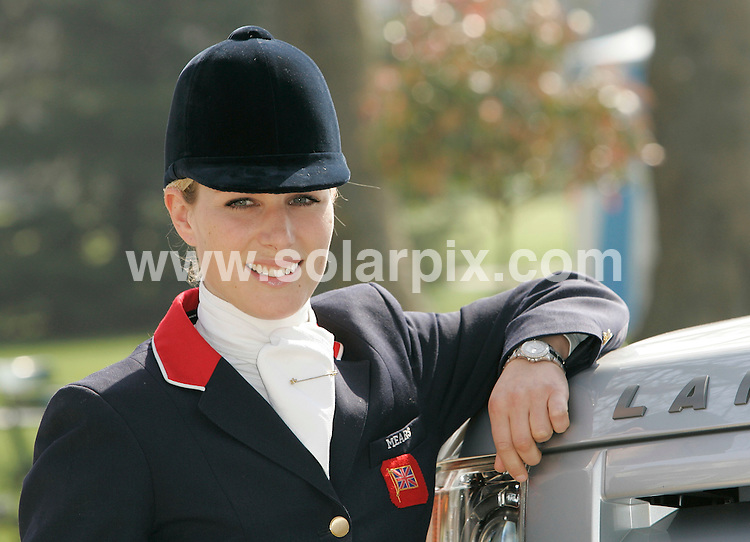 **ALL ROUND PICTURES FROM SOLARPIX.COM**.**WORLDWIDE SYNDICATION RIGHTS**.World Champion and BBC sports  personality of the year, ZARA PHILLIPS, together with the British Eventing Team from Land Rover..JOB REF: 3647   RSR        DATE: 02.04.07.**MUST CREDIT SOLARPIX.COM OR DOUBLE FEE WILL BE CHARGED* *UNDER NO CIRCUMSTANCES IS THIS IMAGE TO BE REPRODUCED FOR ANY ONLINE EDITION WITHOUT PRIOR PERMISSION*