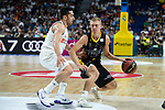 Real Madrid Facundo Campazzo and Iberostar Tenerife Tobias Borg during first match quarter finals of Liga Endesa Playoff between Real Madrid and Iberostar Tenerife at Wizink Center in Madrid, Spain. May 27, 2018. (ALTERPHOTOS/Borja B.Hojas)