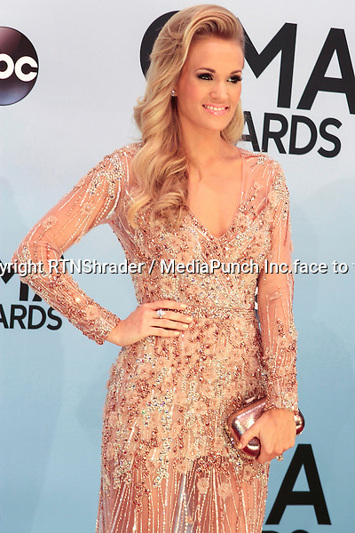 NASHVILLE, TENNESSEE - NOVEMBER 6: Carrie Underwood at The 2013 Country Music Awards in Nashville, Tennessee on November 6, 2013.  Credit: MediaPunch/face to face - Germany, Austria, Switzerland, Eastern Europe, Australia, UK, USA, Taiwan, Singapore, China, Malaysia, Thailand, Sweden, Estonia, Latvia and Lithuania rights only -
