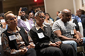 Audience members listen as United States President Donald J. Trump delivers remarks at the 2019 National Historically Black Colleges and Universities Week Conference at the Renaissance Hotel in Washington, DC on Tuesday, September 10, 2019. <br /> Credit: Kevin Dietsch / Pool via CNP