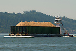 Wood Chip Barge on the Columbia River