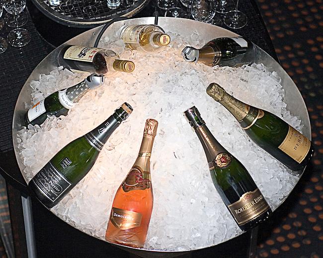 Champagne on Ice, Jardiniere Restaurant, San Francisco, California
