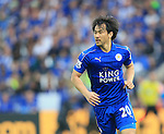 Leicester's Shinji Okazaki in action during the Barclays Premier League match at the King Power Stadium.  Photo credit should read: David Klein/Sportimage
