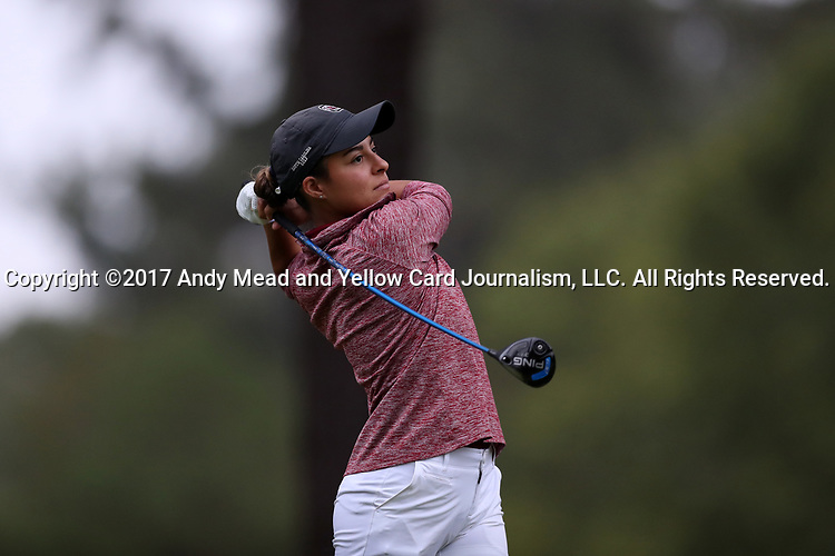 CHAPEL HILL, NC - OCTOBER 13: South Carolina's Isidora Nilsson on the 10th tee. The first round of the Ruth's Chris Tar Heel Invitational Women's Golf Tournament was held on October 13, 2017, at the UNC Finley Golf Course in Chapel Hill, NC.