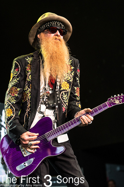 Billy Gibbons of ZZ Top performs at Klipsch Music Center in Indianapolis, Indiana.