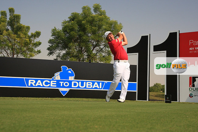 Damien McGrane on the Practice day two of the Dubai World Championship at the Earth Course, Jumeirah golf estates, Dubai, U.A.E. 23/11/2010.Picture Fran Caffrey/www.golffile.ie.