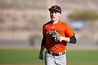 Nicholas Helman (43), from Stewartsville, New Jersey, while playing for the Orioles during the Under Armour Baseball Factory Recruiting Classic at Red Mountain Baseball Complex on December 29, 2017 in Mesa, Arizona. (Zachary Lucy/Four Seam Images)