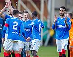 15.12.2019 Motherwell v Rangers: Ryan Jack celebrates at full time