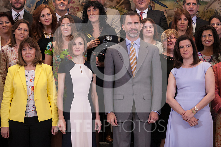 Spanish Royals King Felipe VI of Spain and Queen Letizia of Spain during a Royal Audience with SEMANA magazine representatives at Zarzuela Palace in Madrid, Spain. May 18, 2015. (ALTERPHOTOS/Victor Blanco)