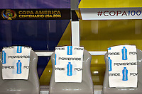 Action photo during the match Ecuador vs Peru at University of Phoenix Stadium Copa America Centenario 2016. ---Foto  de accion durante el partido Ecuador vs Peru, En el Estadio de la Universidad de Phoenix, Partido Correspondiante al Grupo - B -  de la Copa America Centenario USA 2016, en la foto: SPONSORS<br /> --- 08/06/2016/MEXSPORT/Osvaldo Aguilar.