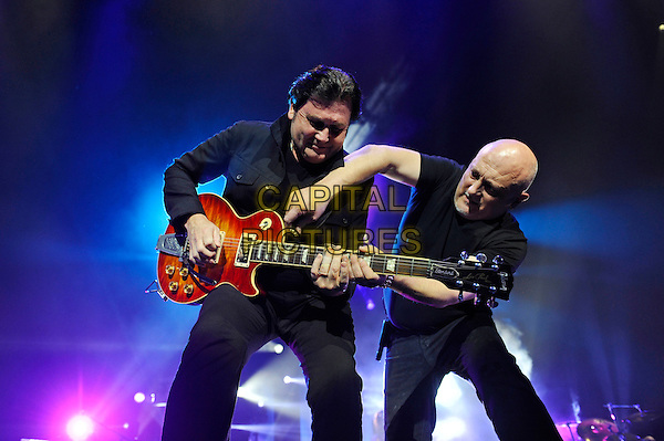 LONDON, ENGLAND - NOVEMBER 26: Charlie Burchill and Jim Kerr of 'Simple Minds' performing at O2 Arena on November 26, 2015 in London, England.<br /> CAP/MAR<br /> &copy; Martin Harris/Capital Pictures