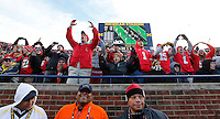 Ohio State fans cheer O-H-I-O around the stadium during the fourth quarter of the NCAA football game against the Michigan Wolverines at Michigan Stadium in Ann Arbor on Nov. 28, 2015. Ohio State won 42-13. (Adam Cairns / The Columbus Dispatch)