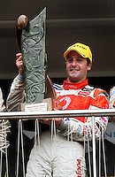 Jamie Whincup with the Mark Porter Trophy during Day Three of the Hamilton 400 Aussie V8 Supercars Round Two at Frankton, Hamilton, New Zealand on Sunday, 19 April 2009. Photo: Dave Lintott / lintottphoto.co.nz