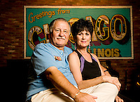 Owners of The Loop Taste of Chicago, Mark Rusin (cq) and Marcie Rusin (cq) in their restaurant in Tucson, Arizona, Thursday, August 6, 2009. Rusin was denied a small business loan designed to help people as part of the stimulus package...PHOTOS/ MATT NAGER