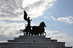 Statue atop the Main Government Building in Rome