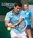 Novak Djokovic (SRB) takes the first two sets against Marin Cilic (CRO)