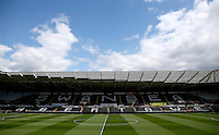 A general view as the sun shines before the Barclays Premier League match between Swansea City and Manchester City played at The Liberty Stadium, Swansea on 15th May 2016