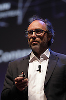 Wikipedia founder Jimmy Wales speak in Montreal ,Monday, April 11, 2016.<br /> <br /> Photo : Pierre Roussel<br />  - Agence Quebec Presse<br /> <br /> <br /> <br /> <br /> <br /> <br /> <br /> <br /> <br /> <br /> <br /> .