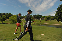 Eun Jeong Seong (KOR) and Mel Reid (ENG) depart the 13th tee box during round 1 of  the Volunteers of America Texas Shootout Presented by JTBC, at the Las Colinas Country Club in Irving, Texas, USA. 4/27/2017.<br /> Picture: Golffile | Ken Murray<br /> <br /> <br /> All photo usage must carry mandatory copyright credit (&copy; Golffile | Ken Murray)