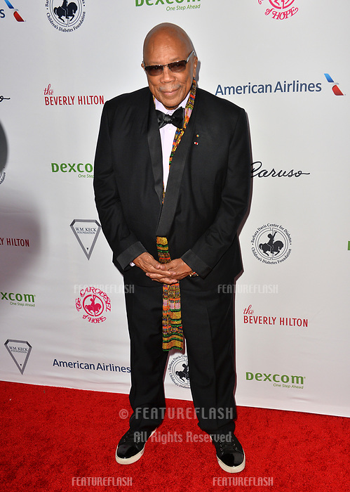 LOS ANGELES, CA. October 06, 2018: Quincy Jones at the 2018 Carousel of Hope Ball at the Beverly Hilton Hotel.<br /> Picture: Paul Smith/Featureflash