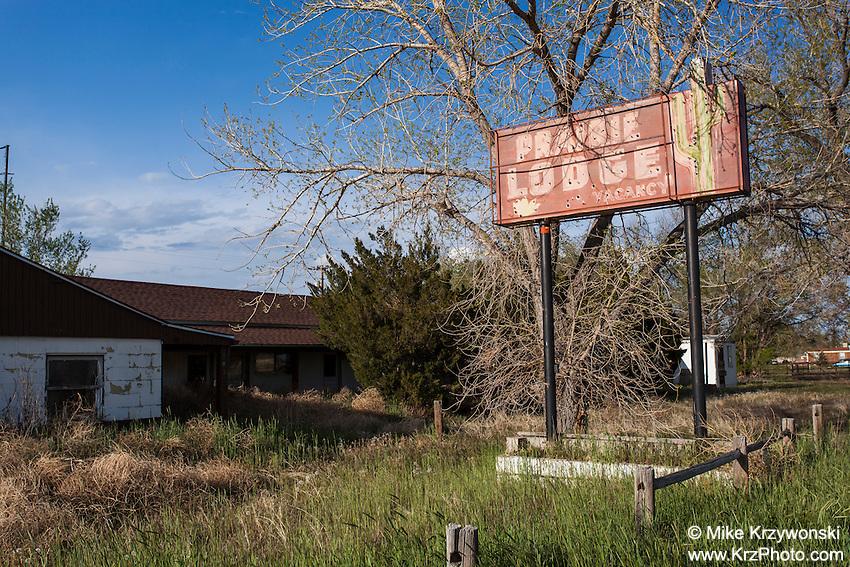 Abandoned Prairie Lodge Motel in Roggen, CO