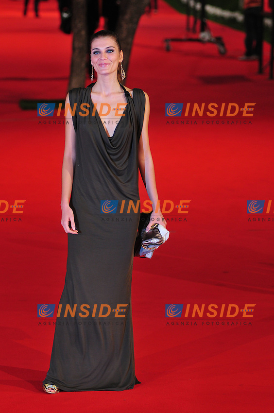Third edition of the Rome International film festival<br /> Claudia Zanella<br /> Roma 23/10/2008 <br /> Red Carpet 'L'uomo che ama'<br /> Photo &copy; Luca Cavallari Insidefoto