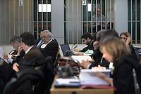Roma, 24 Novembre 2015<br /> Carlo Pucci<br /> Imputati detenuti dietro le sbarre delle celle.<br /> Aula bunker di Rebibbia<br /> Quarta udienza del processo Mafia Capitale,