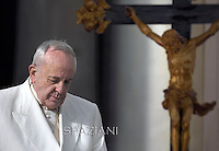 Pope Francis during his weekly general audience in St. Peter square at the Vatican, Wednesday. December 3, 2014