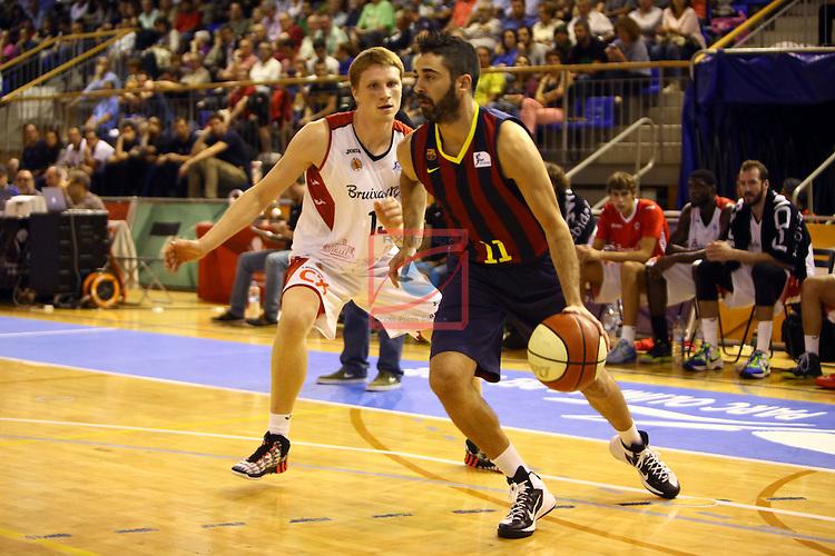 Regal XXXV Llia Nacional Catalana ACB 2014-Semifinals.<br /> FC Barcelona vs La Bruixa d'Or Manresa: 82-66.<br /> Marius Grigonis vs Juan Carlos Navarro.