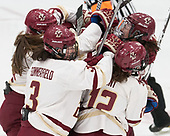 -  The Boston College Eagles defeated the University of Vermont Catamounts 4-3 in double overtime in their Hockey East semi-final on Saturday, March 4, 2017, at Walter Brown Arena in Boston, Massachusetts.