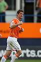 George Pilkington of Luton celebrates scoring the second goal during the Blue Square Bet Premier match between Luton Town and Cambridge United at Kenilworth Road, Luton  on 11th September 2010.© Kevin Coleman 2010