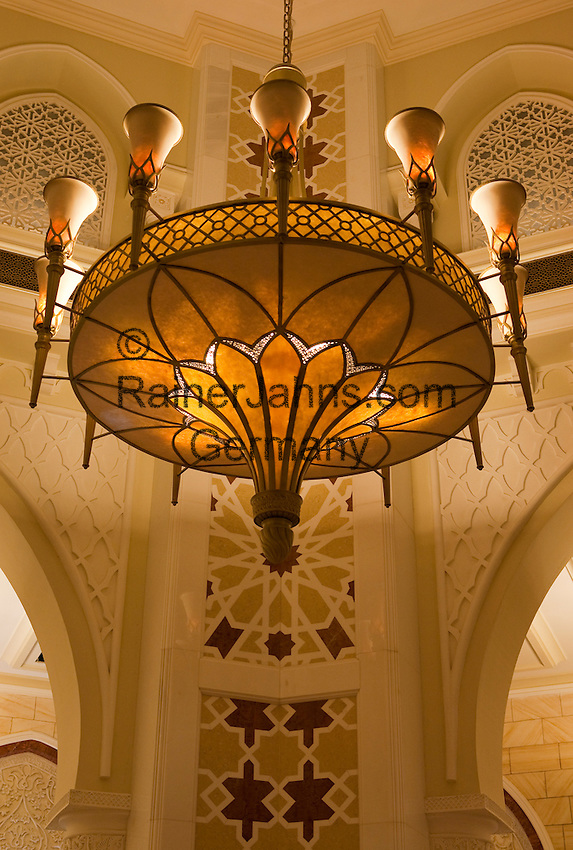 United Arab Emirates, Dubai: Dubai Mall, worlds largest shopping mall, Arabic style light and detail in the Gold Souk.
