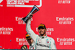Mercedes AMG Petronas Motorsport driver Lewis Hamilton (44) of Great Britain in action during the Formula 1 Emirates United States Grand Prix race held at the Circuit of the Americas racetrack in Austin,Texas.