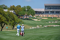 Padraig Harrington (IRL) looks over his second shot on 18 during day 1 of the Valero Texas Open, at the TPC San Antonio Oaks Course, San Antonio, Texas, USA. 4/4/2019.<br /> Picture: Golffile | Ken Murray<br /> <br /> <br /> All photo usage must carry mandatory copyright credit (© Golffile | Ken Murray)