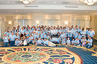 All families at the Share and Care Network's annual retreat held at the Doubletree Guest Suites Hotel in Boston on May 20, 2006. <br /> <br /> The Share and Care Network was created in 1981 by Pat Cahill when her son Scott was diagnosed with Cockayne Syndrome.  A rare form of dwarfism, Cockayne Syndrome is a genetically determined condition whose symptoms include microcephaly, mental retardation, progressive blindness, progressive hearing loss, premature aging, and a shortened lifespan averaging 18 years.  Those afflicted have distinctive facial features, including sunken eyes, pinched faces, and protruding jaws as well as distinctive gregarious, affectionate personalities.<br /> <br /> Because of the rarity of the condition (1/1,000 live births) and its late onset (characteristics usually begin to appear only after one year), many families and physicians are often baffled by children whose health begins to deteriorate after normal development.  It was partly with this in mind that the Share and Care Network was formed, to promote awareness of this disease as well as to provide a support network for those families affected.  In 1998 it began organizing an annual retreat, which has grown from three families in its inaugural year to more than 30 today.  Although the retreat takes place in the United States, families from as far as Japan arrive for this one weekend out of the year to share information and to support one another.