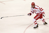 Doyle Somerby (BU - 27) - The Boston University Terriers defeated the University of Massachusetts Minutemen 3-1 on Friday, February 3, 2017, at Agganis Arena in Boston, Massachusetts.The Boston University Terriers defeated the visiting University of Massachusetts Amherst Minutemen 3-1 on Friday, February 3, 2017, at Agganis Arena in Boston, MA.