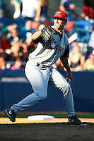 July 24 2008: Scott Barnes  of the Salem-Keizer Volcanoes, Short Season Class-A affiliate of the San Francisco Giants, during a game at Home of the Avista Stadium in Spokane, WA.  Photo by:  Matthew Sauk/Four Seam Images