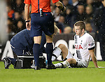 Tottenham's Eric Dier goes off injured<br /> <br /> UEFA Europa League - Tottenham Hotspur v Monaco - White Hart Lane - England -10th December 2015 - Picture David Klein/Sportimage
