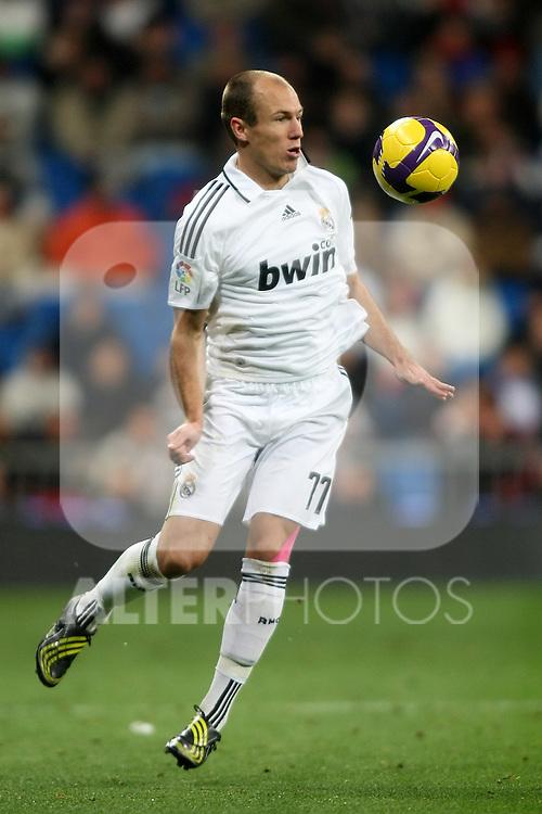 Real Madrid's Arjen Robben during La Liga match.January 25 2009. (ALTERPHOTOS/Acero).