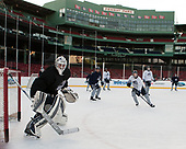 Adam Clark (UNH - 41) - The University of New Hampshire Wildcats practiced at Fenway on Friday, January 13, 2017, in Boston, Massachusetts.
