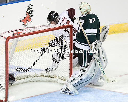 Kevin Sullivan (Union - 16), Will Yanakeff (MSU - 37) - The Union College Dutchmen defeated the Michigan State University Spartans 3-1 in their NCAA East Regional semifinal on Friday, March 23, 2012, at the Webster Bank Arena in Bridgeport, Connecticut.