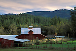 Barn at the tip of the Napa Valley, near Calistoga, Napa County, California
